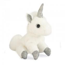doudou licorne argenté