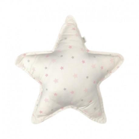 coussin étoiles roses