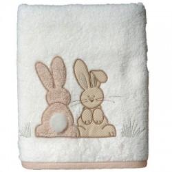 Serviette Pompon le lapin