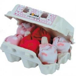 Boîte de 6 paires de chaussettes bébé GIRL