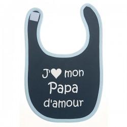 Bavoir j'aime mon papa d'amour rose