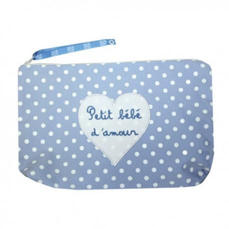 Pochette Petit bébé d'amour bleu
