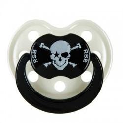 Sucette Pirate perle & noir