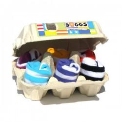 Boîte de 6 chaussettes à rayures