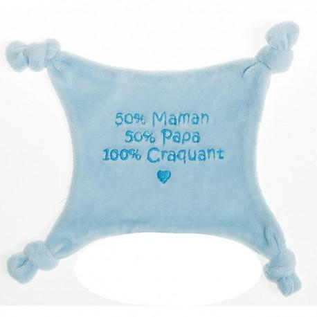 Doudou 100% craquante bleu