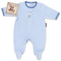 Pyjama bébé Douce nuit bleu ciel