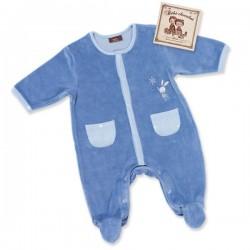 Pyjama bébé Douce nuit bleu marine