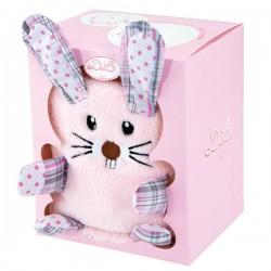 Couverture bébé Doudou lapin rose