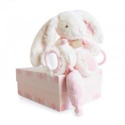 Doudou lapin sucrerie rose
