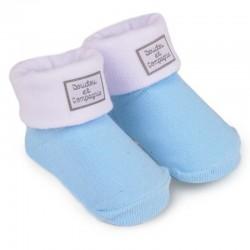 chaussettes bleu blanc