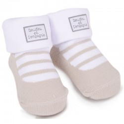 chaussettes ballerine taupe