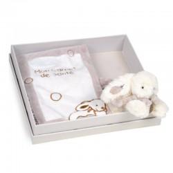 Protège carnet de santé beige lapin