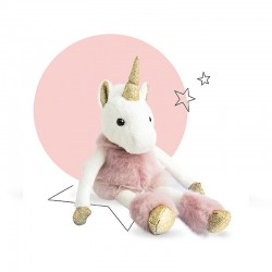 doudou licorne doré rose